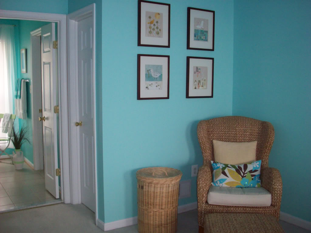 Color Changes Everything Aqua Master Bedroom Makeover