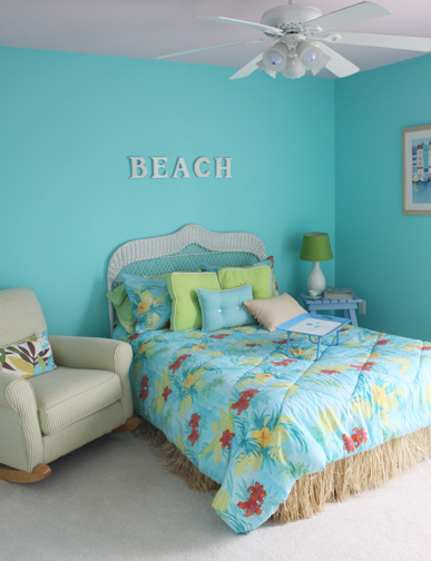 and yellow guest room it s another colorful beach inspired room that
