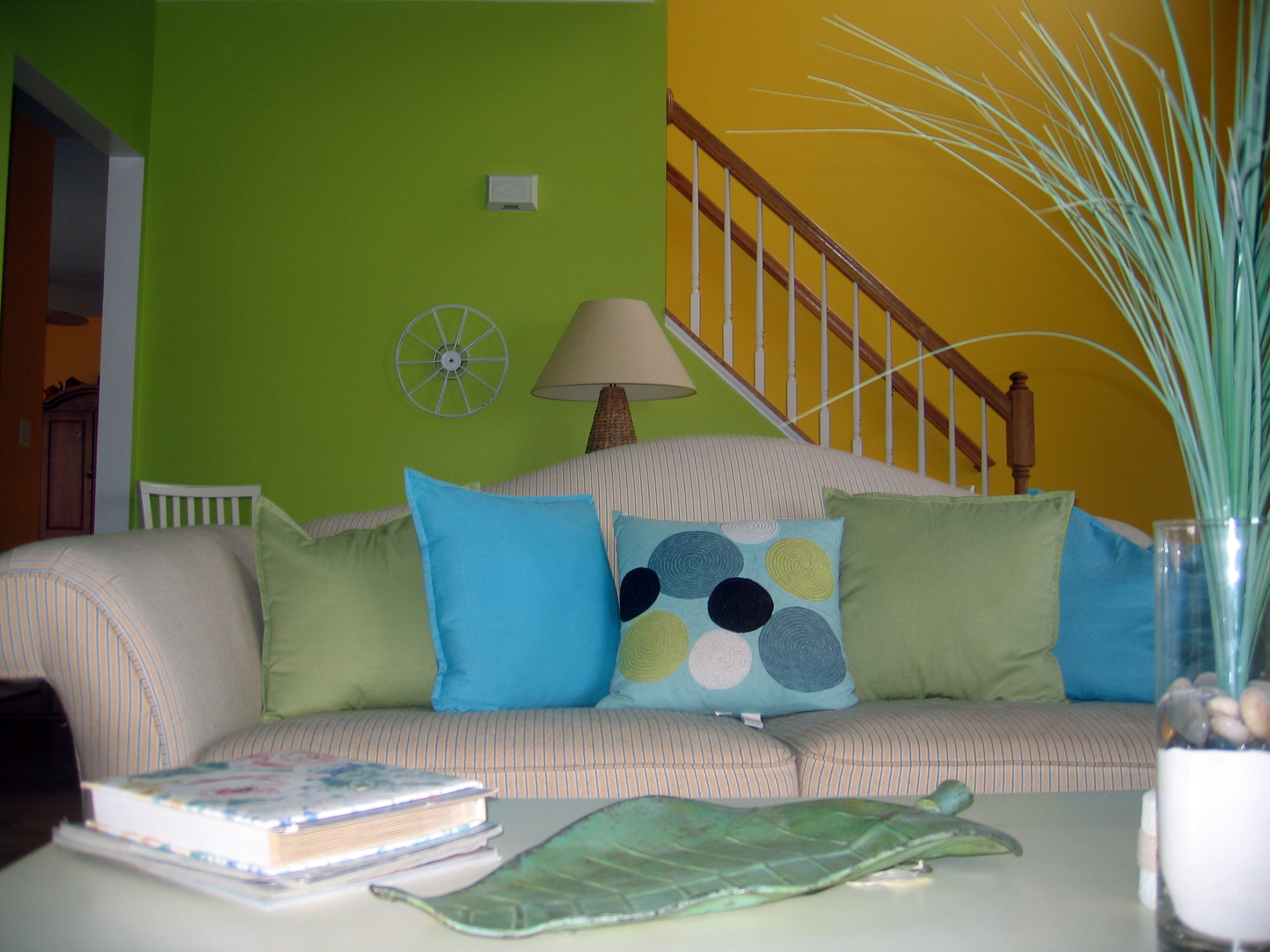 Lime Green Living Room Lime Green Living Room Afternoon Artist