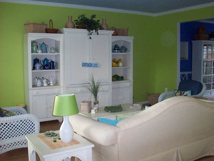 Color Changes Everything Lime Green Living Room Makeover
