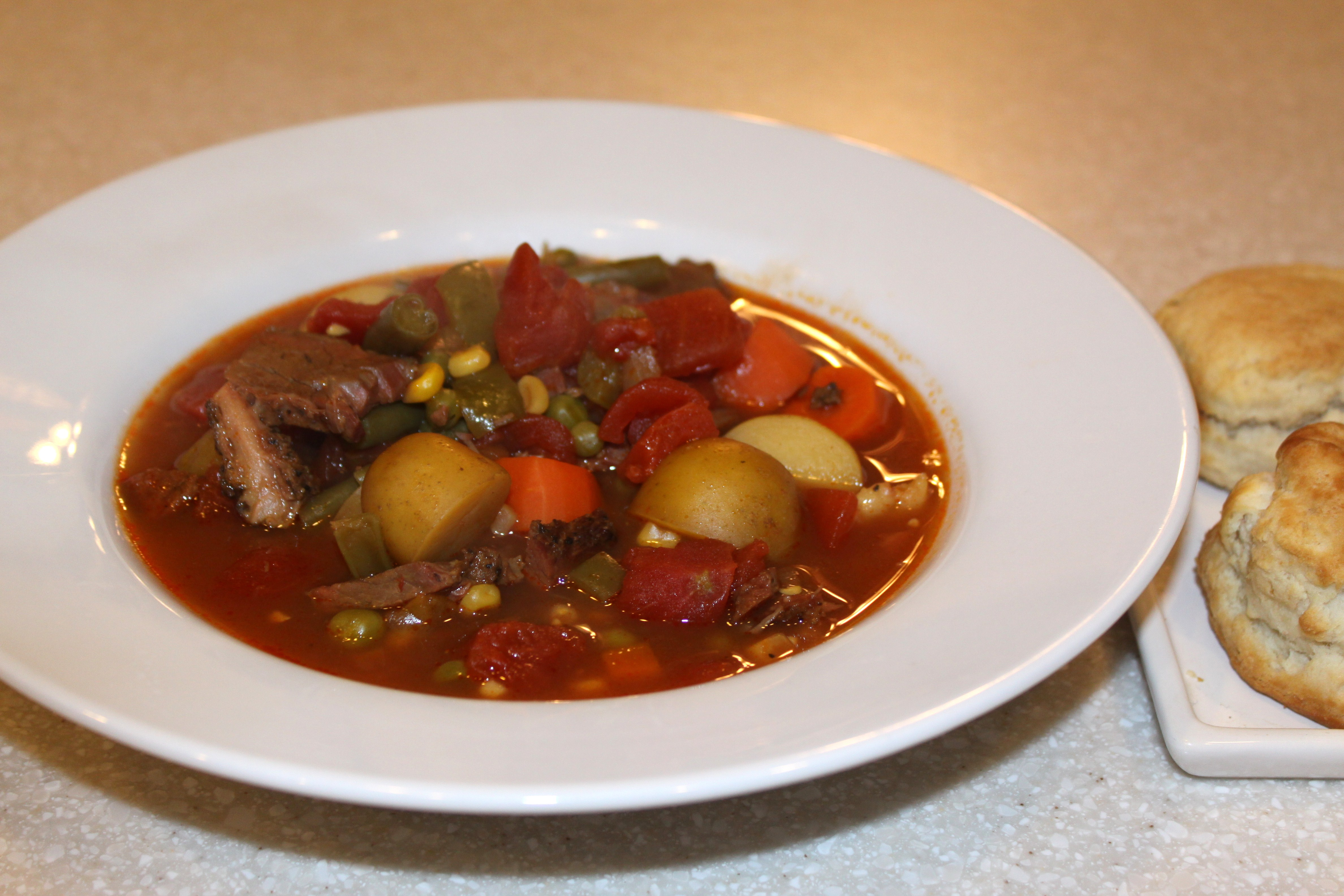 chunky beef vegetable soup | Afternoon Artist