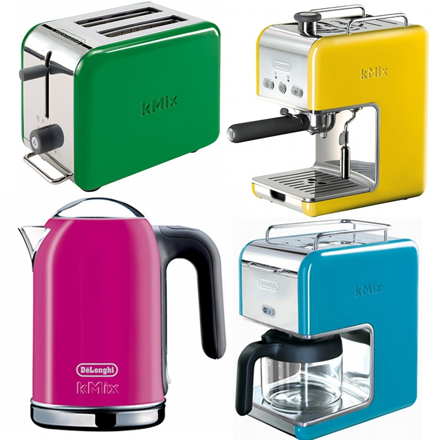 Colorful kitchen appliances to brighten my kitchen for Small retro kitchen