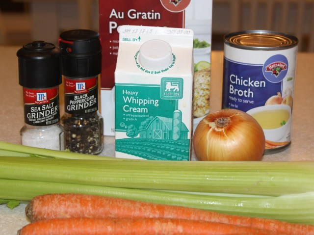 Au Gratin Potato Soup Ingredients
