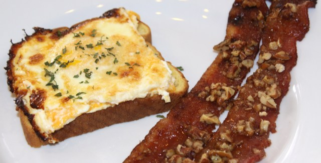 Christmas Brunch Eggs and Candied Bacon