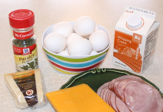 Christmas Brunch Eggs Ingredients