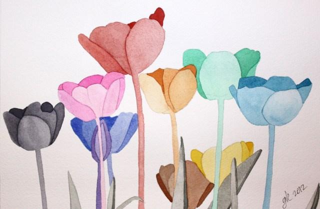 Greta's Rainbow Tulips