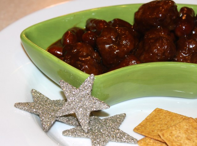 Maple-Mustard BBQ Meatballs & Sausages
