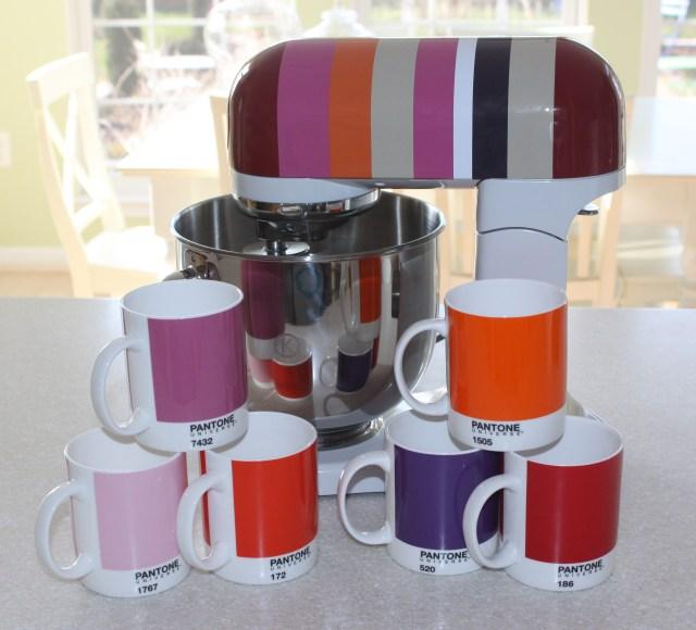 Pantone Coffee Mugs and Kenwood KMIX Mixer