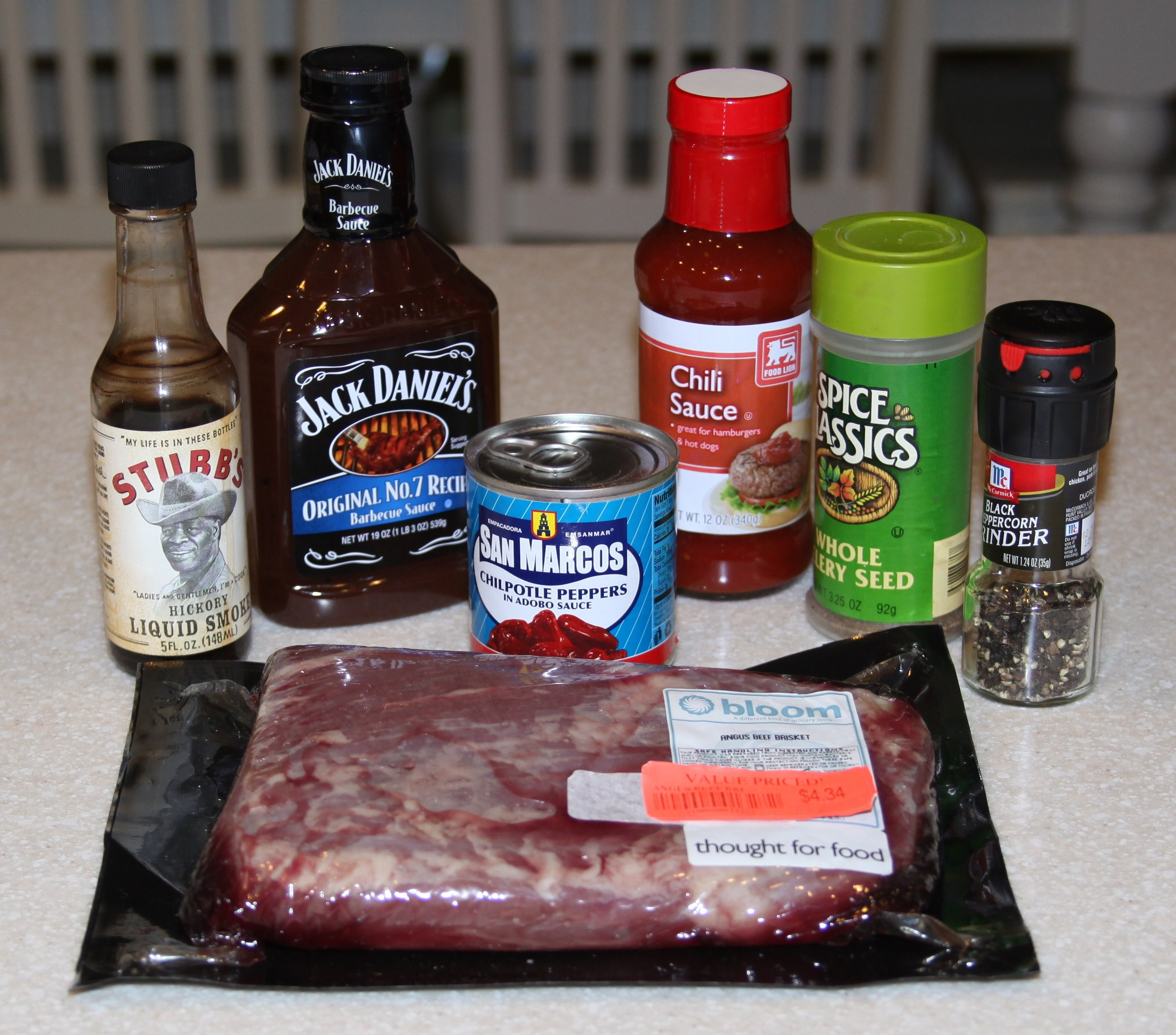 Oven Baked BBQ Brisket Ingredients