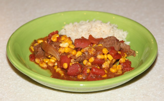 Skillet Steak and Corn