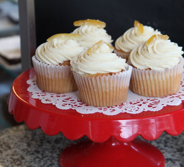 Citrus Cupcakes with Burnt Sugar Icing