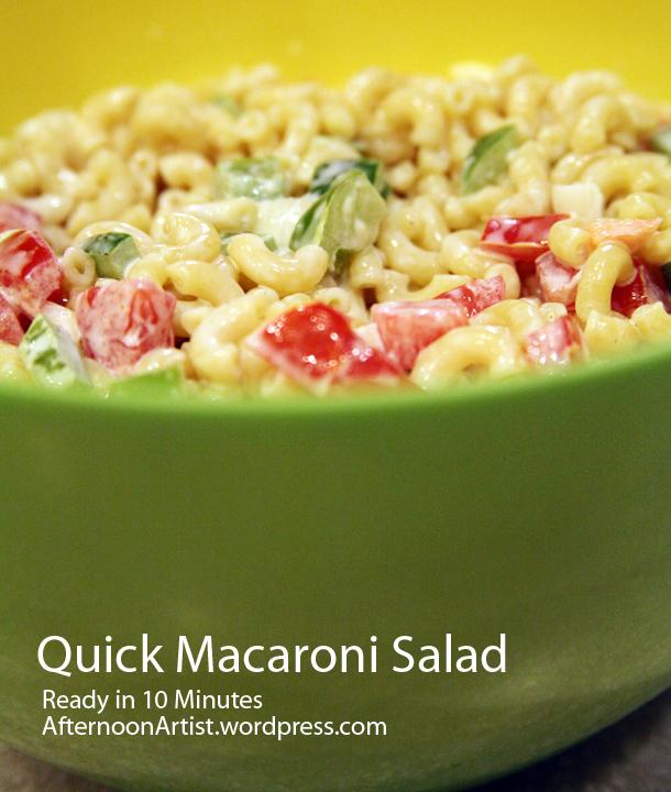 quick summer salads | Afternoon Artist