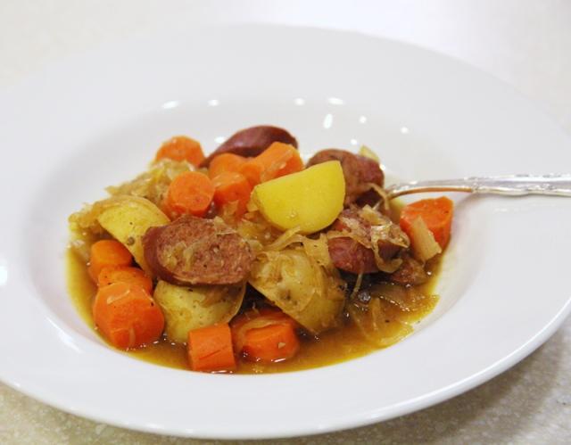 Sausage Sauerkraut Stew