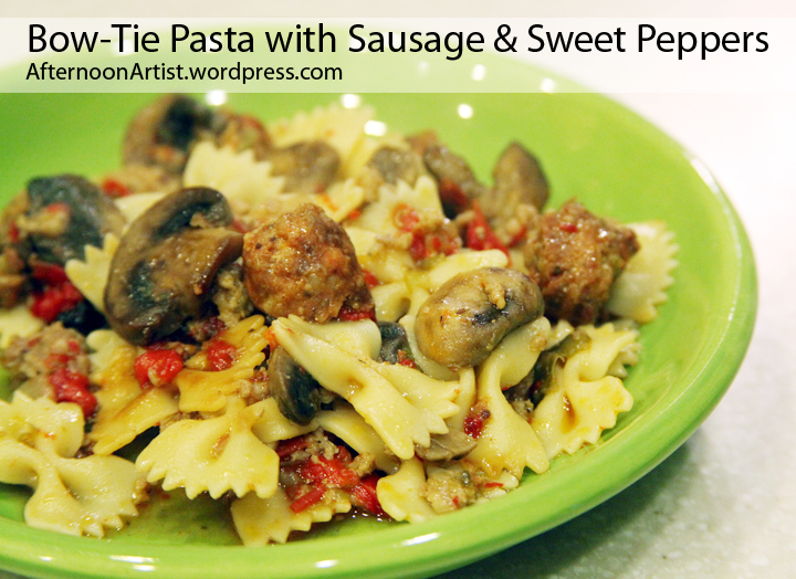 Bow Tie Pasta with Sausage