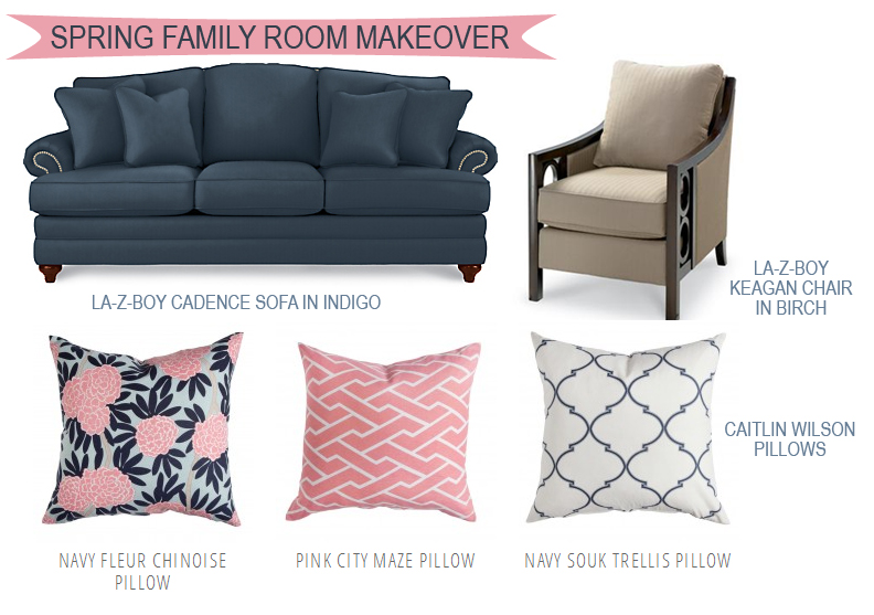 Spring Family Room Makeover
