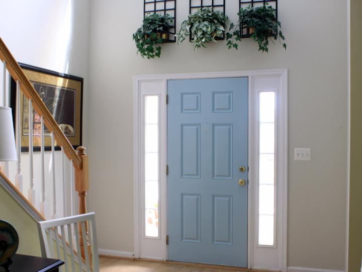 Blue Foyer Door : Foyer makeover afternoon artist
