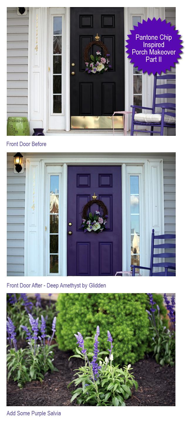 Purple Front Door Afternoon Artist