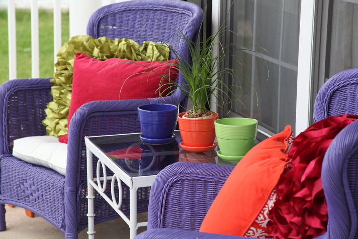 colorful porch makeover