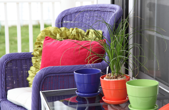 Colorful porch furniture and accessories