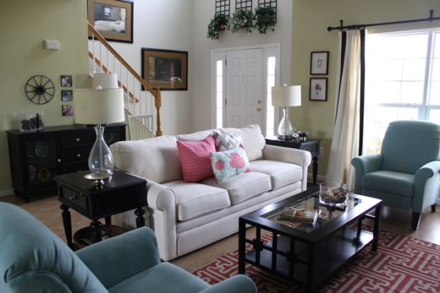 Spring Living Room Makeover Small