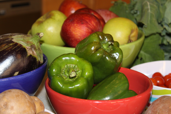 Fresh fruits and vegetables from the Bealeton farmer's market