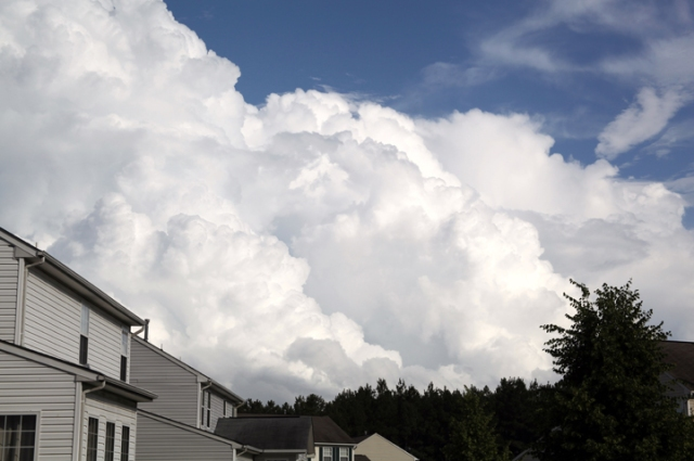 Enormous cloud formation