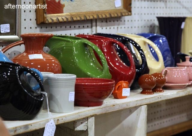 antique fiestaware pitchers