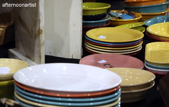 antique fiestaware plates