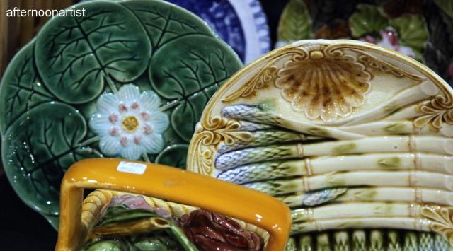 antique majolica plates