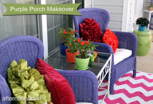 Purple porch makeover