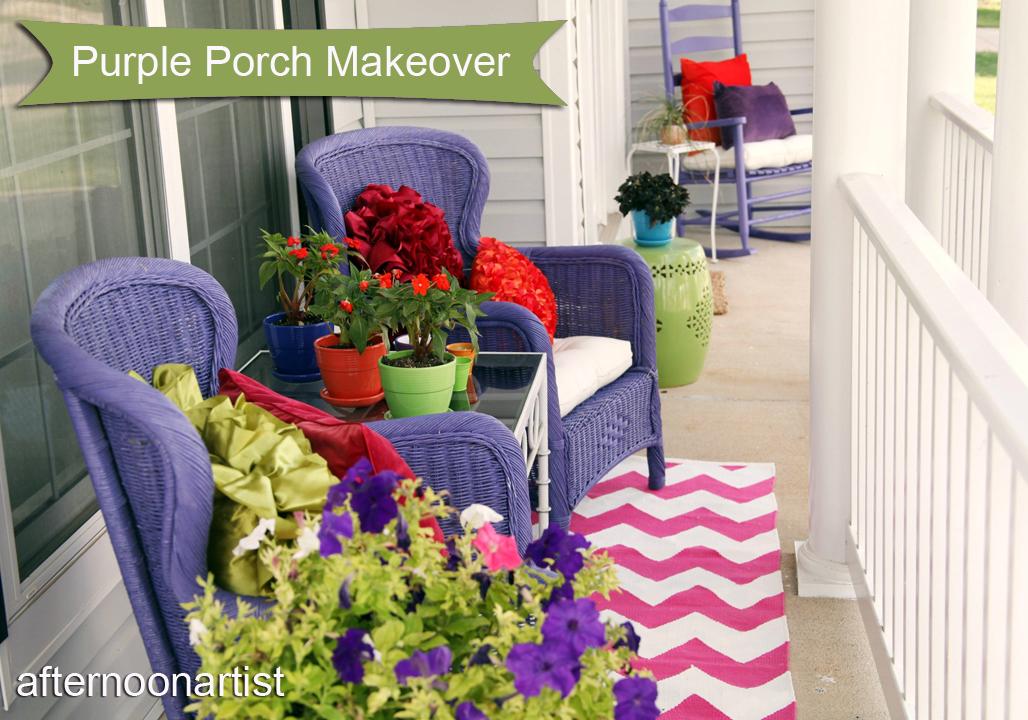 Purple Porch Makeover