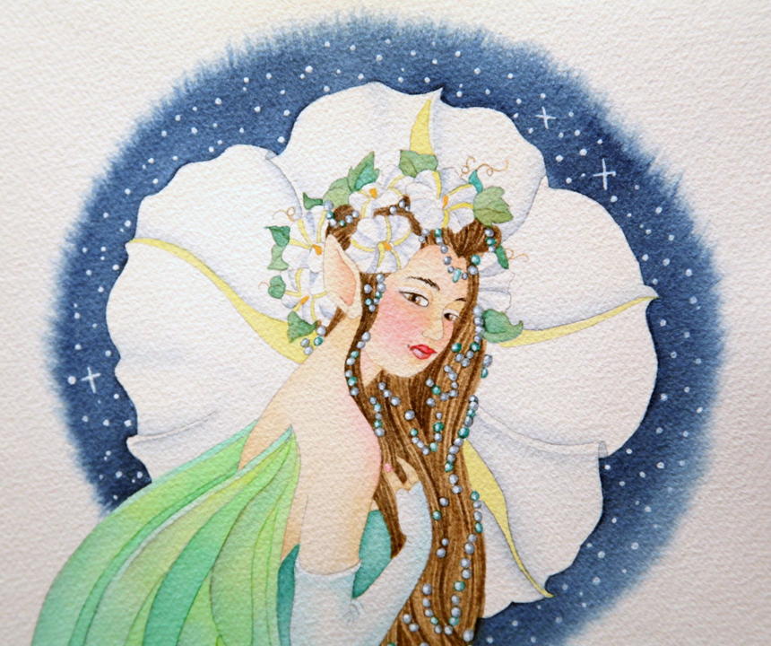 Night fairy closeup