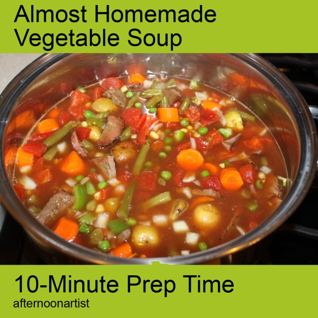 Almost homemade vegetable soup