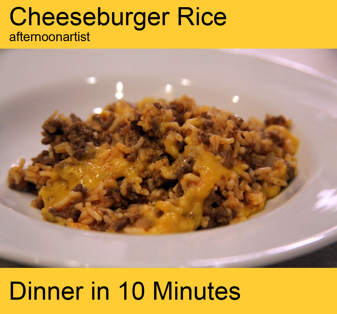 Cheeseburger rice recipe