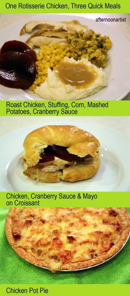One chicken--three quick meals