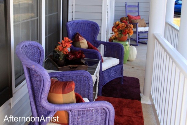 Fall porch makeover