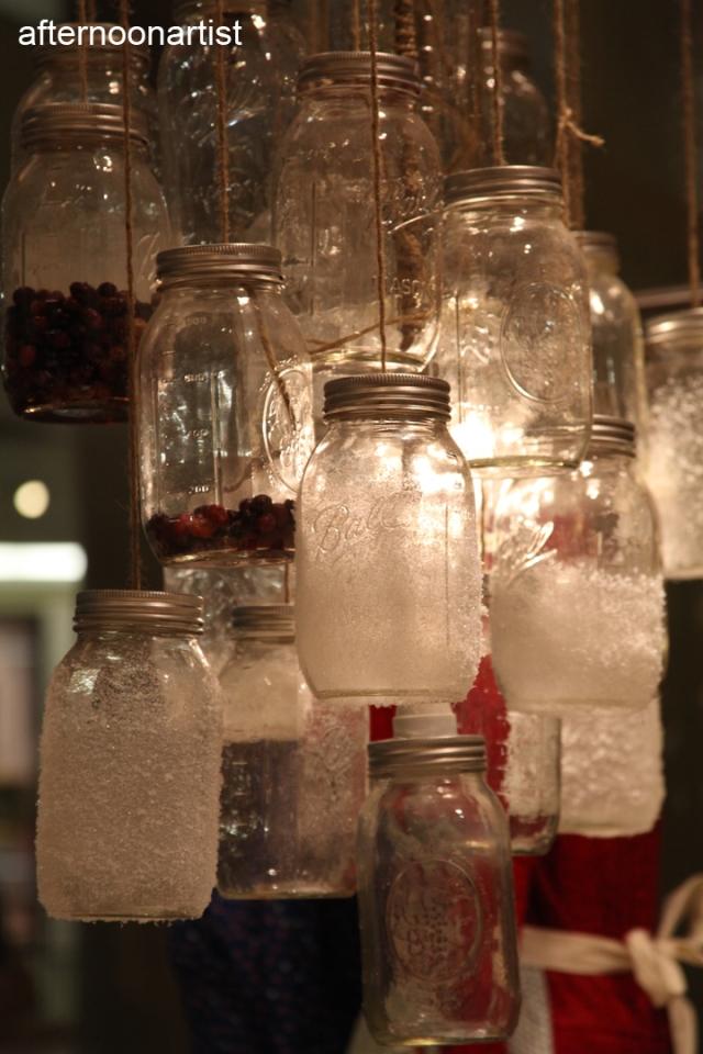 Mason jar chandalier