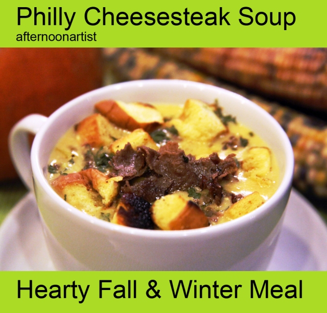 Philly Cheesesteak Soup