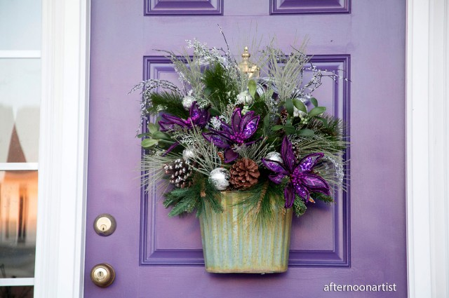 purple and silver holiday wreath