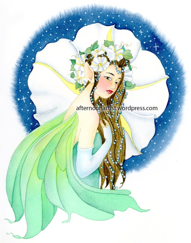 Night Fairy in Watercolor